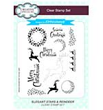 SO: Elegant Stars & Reindeer A5 Clear Stamp Set