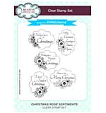 SO: Christmas Rose Sentiments A5 Clear Stamp Set