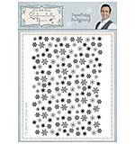 Snowflake Background A6 Stamp