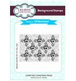 Scripted Christmas Rose A6 Background Stamp