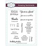 Amazing Sentiments - A5 Clear Stamp Set