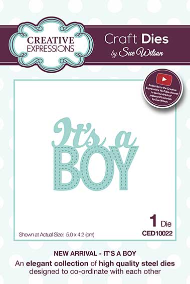 Sue Wilson Cutting Die - New Arrival Collection - It\'s A Boy Die