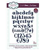 Sue Wilson Cutting Die - Expressions - Art Deco Alphabet - Lower Case and Numbers