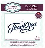 Sue Wilson Cutting Die - Expressions - Scripted Thank You Die