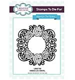 Sue Wilson Stamps to Die for - Hibiscus Swirl - Pre Cut Stamp