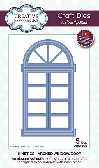 Sue Wilson Cutting Die - Kinetics Arched Window - Door