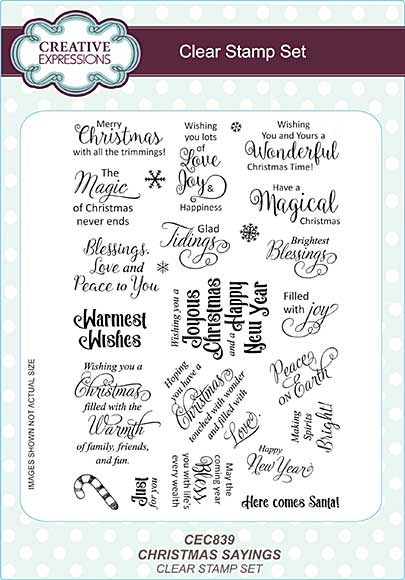 Christmas Sayings A5 Clear Stamp Set