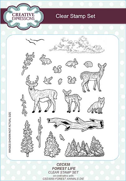 Forest Life A5 Clear Stamp Set