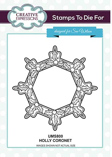 Holly Coronet Pre Cut Stamp