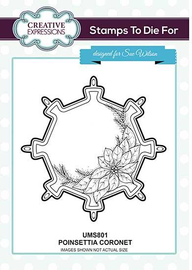 Poinsettia Coronet Pre Cut Stamp