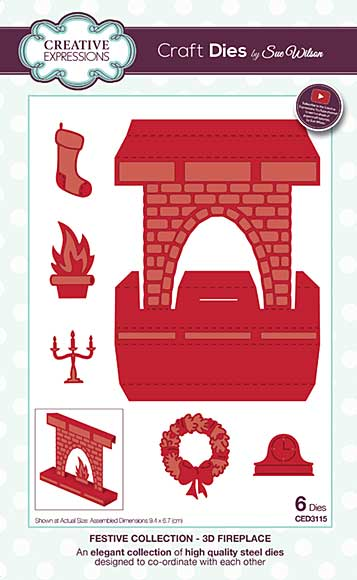 Sue Wilson Festive Collection - 3D Fireplace