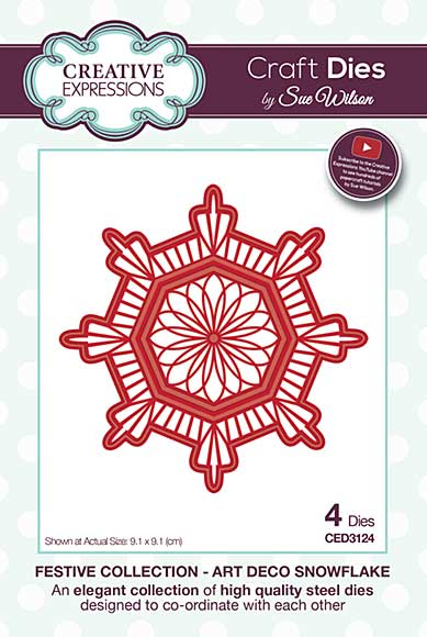 Sue Wilson Festive Collection - Art Deco Snowflake