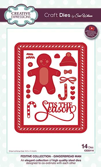 Sue Wilson Festive Collection - Gingerbread Man