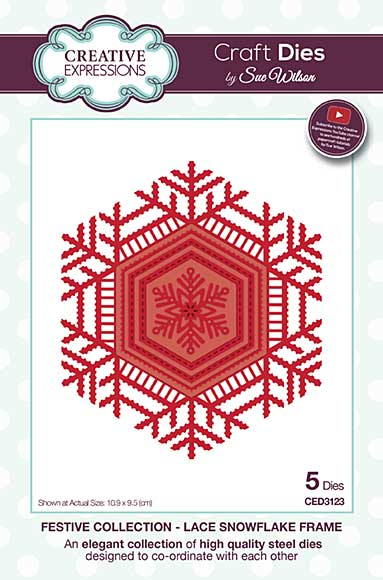 Sue Wilson Festive Collection - Lace Snowflake Frame