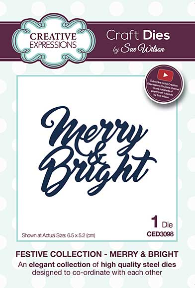 Sue Wilson Festive Collection - Merry and Bright