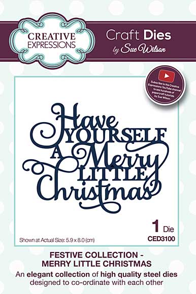 Sue Wilson Festive Collection - Merry Little Christmas