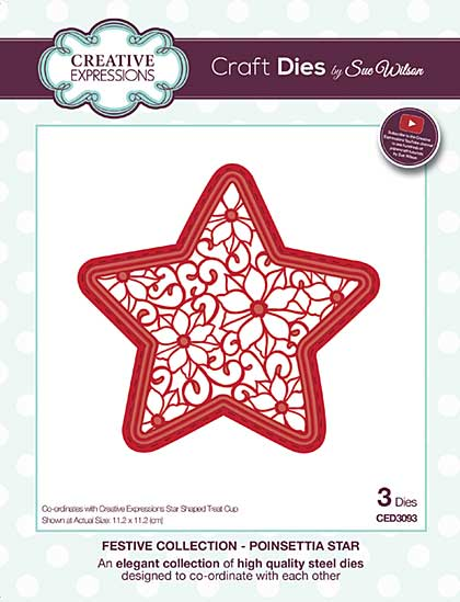 Sue Wilson Festive Collection - Poinsettia Star