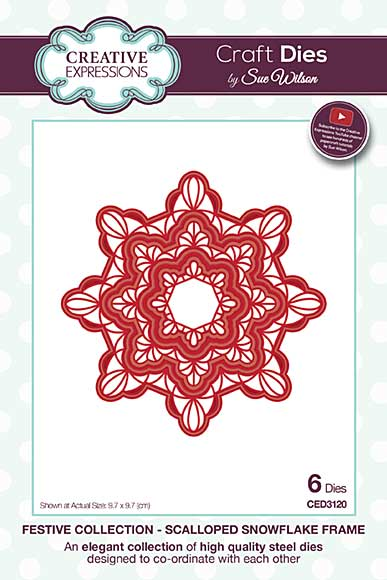 Sue Wilson Festive Collection - Scalloped Snowflake Frame