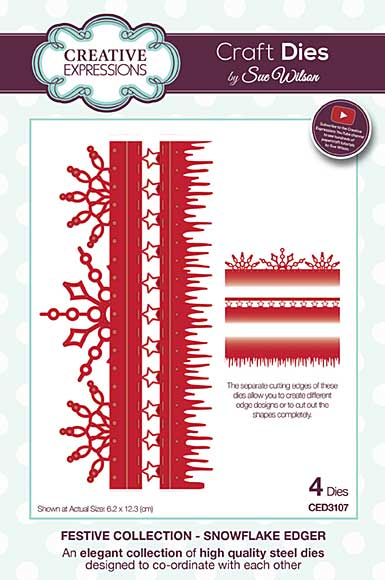 Sue Wilson Festive Collection - Snowflake Edger