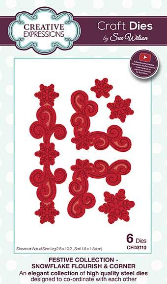 Sue Wilson Festive Collection - Snowflake Flourish and Corner