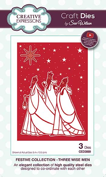 Sue Wilson Festive Collection - Three Wise Men
