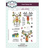 Reindeer Fun A5 Clear Stamp Set