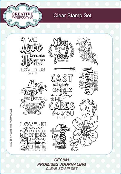 Promises Journaling A5 Clear Stamp Set