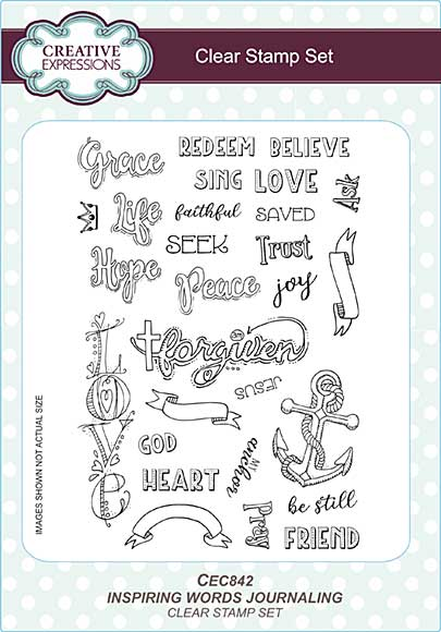 Inspiring Words A5 Clear Stamp Set