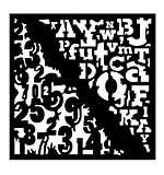 Woodware Stencil - Numbers & Letters [WW1801]
