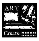 Woodware Stencil - Art [WW1801]