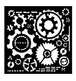 Woodware Stencil - Cogs [WW1801]