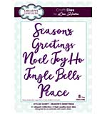 Stylish Script Collection Seasons Greetings Craft Die