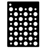 SO: Creative Expressions Mini Stencil Double Dots