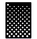 SO: Creative Expressions Mini Stencil Graduated Grid