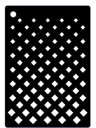 Creative Expressions Mini Stencil Graduated Grid
