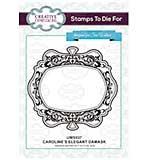 Stamps To Die For - Caroline's Elegant Damask Pre cut stamp