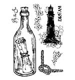 Woodware Clear Singles Stamp - Message in a Bottle [WW1804]