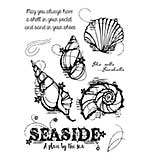 Woodware Clear Singles Stamp - Seashells [WW1804]
