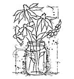 Woodware Clear Singles Stamp - Flowers in a Jar [WW1804]