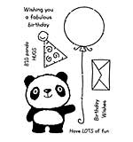 Woodware Clear Singles Stamp - Panda Birthday [WW1804]