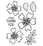 Woodware Clear Singles Stamp - Bold Blooms Amanda [WW1804]