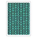 Textured Impressions Embossing Folder - Chevron Texture by Craft Asylum