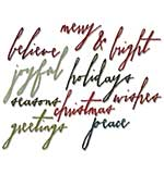 Sizzix Thinlits Dies 11pk By Tim Holtz - Holiday Words Handwritten