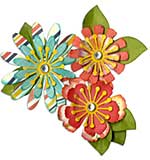 Sizzix Thinlits Dies - Mix and Match Flowers (10 dies)