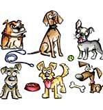 Crazy Dogs - Sizzix Framelits Dies by Tim Holtz (23pk)