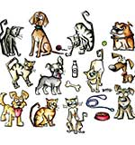 Sizzix Framelits Mini Cats and Dogs Dies (19pk) by Tim Holtz