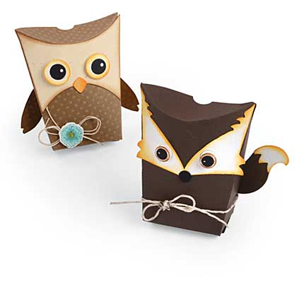 Sizzix Thinlits Die Set 6pk - Box, Owl & Fox By Jen Long