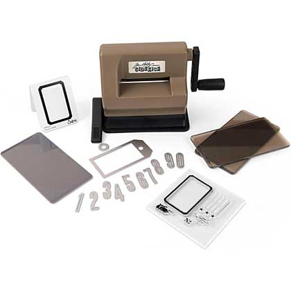 Tim Holtz Sizzix Sidekick Starter Kit (Set includes Machine Dies, Plates and Stamps)