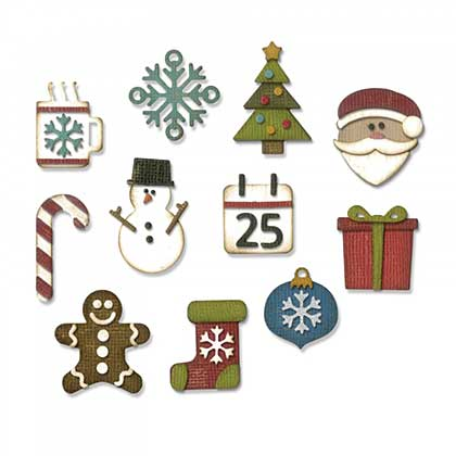 Sizzix Thinlits Set - Mini Christmas Things (11 Dies)