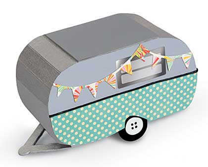 Sizzix Scoreboards XL - 3-D Travel Trailer